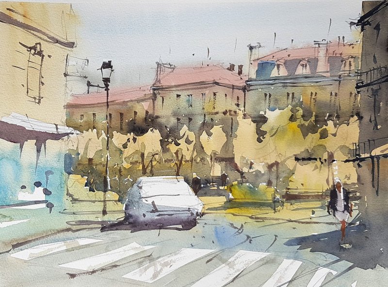 France painting holiday plein air #14