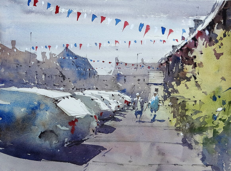 Sherston plein air painting #3