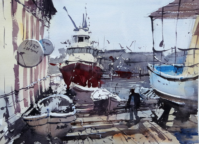 Boat Yard Camikebir Kusadasi Turkey