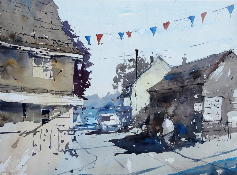 Sherston plein air painting #1