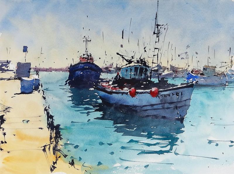 Fishing boats return quartiera T