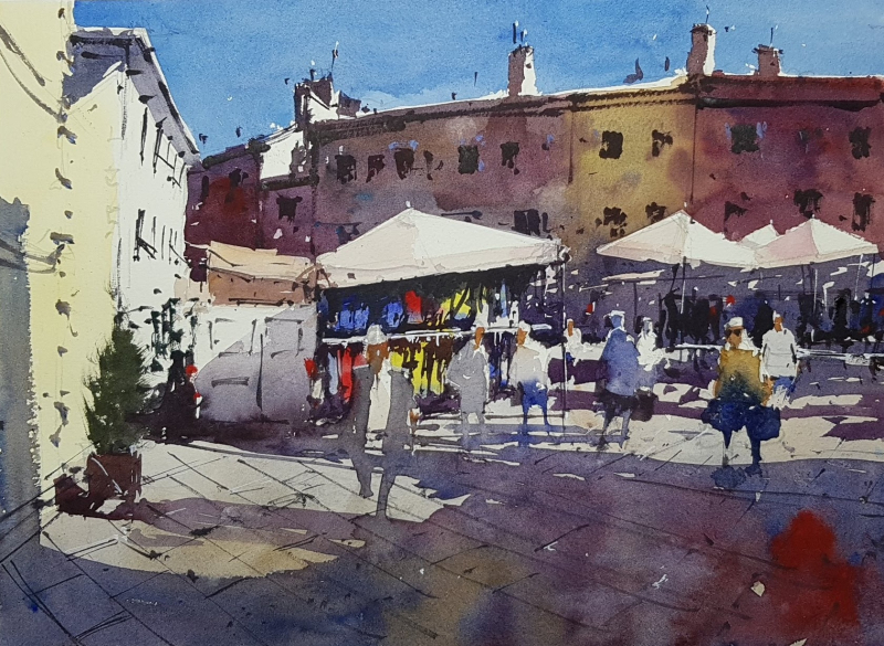 Tim wilmot newton watercolor demo painting