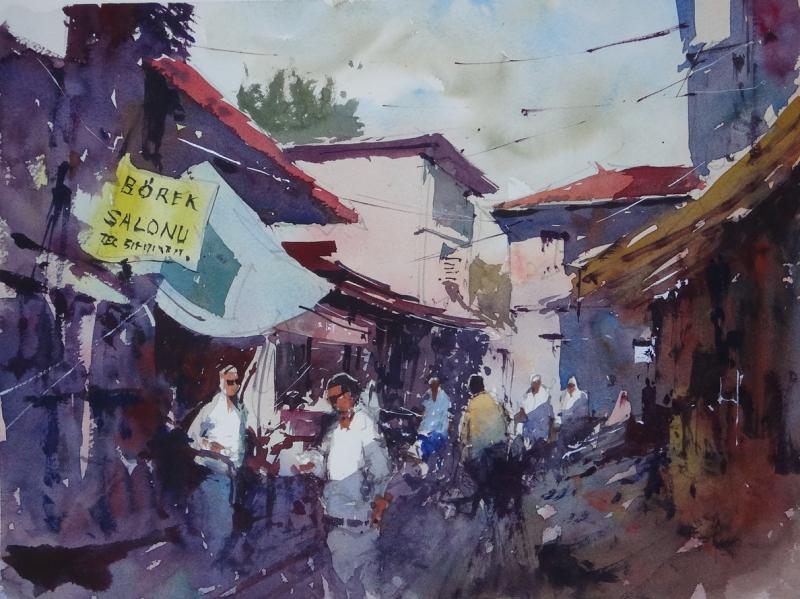 Borek Istanbul market