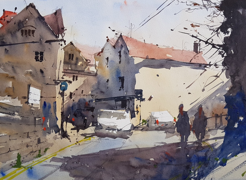 Bradford on avon plein air #1