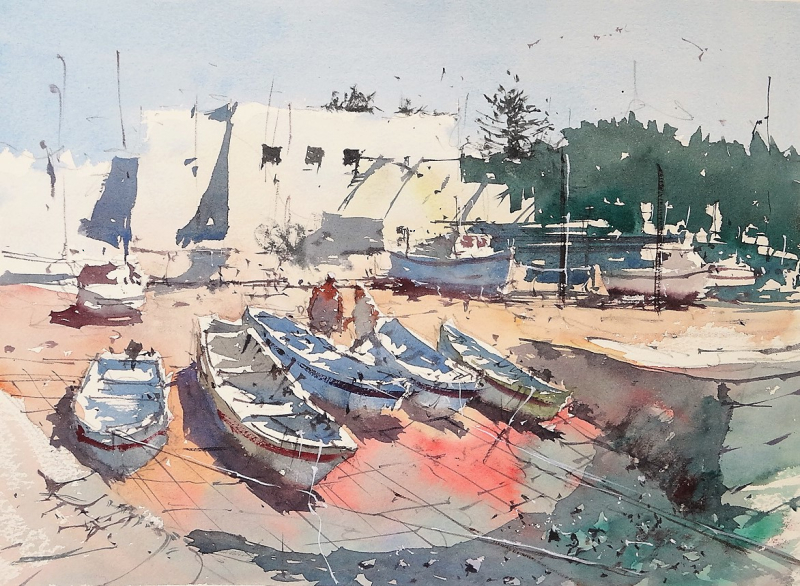 Boatyard olhao portugal t