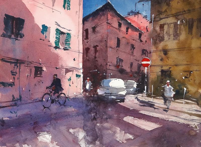 Late afternoon shadows Livorno y