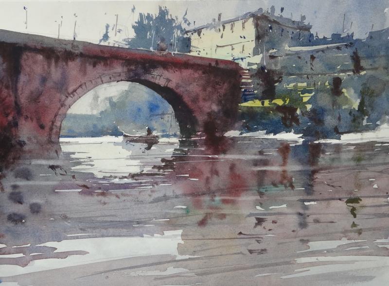 Bergerac and river dordogne