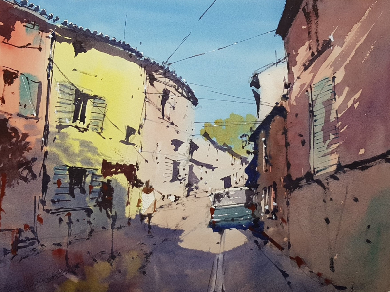 Frejus painting by Tim Wilmot