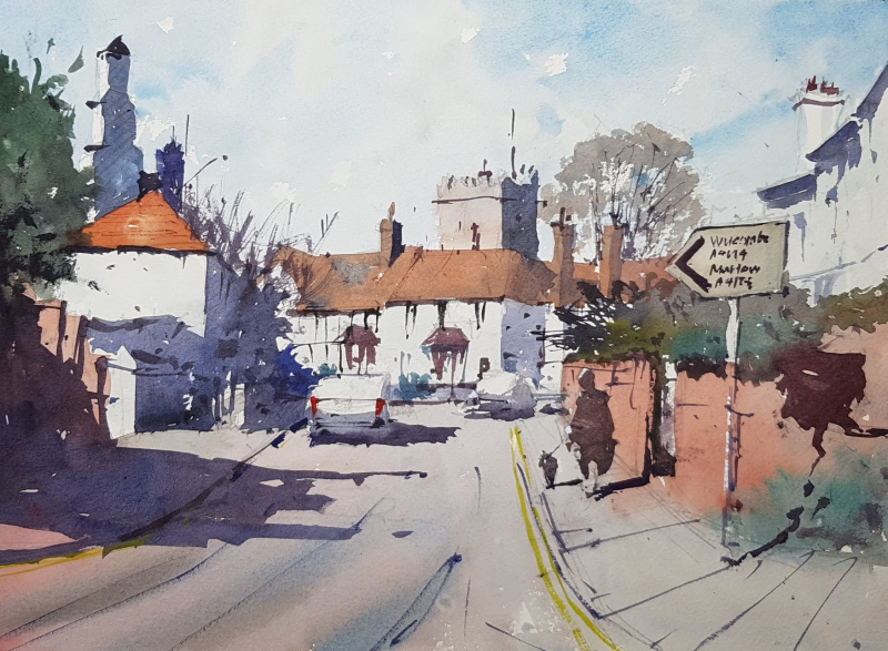 Cookham art club demo by tim wilmot