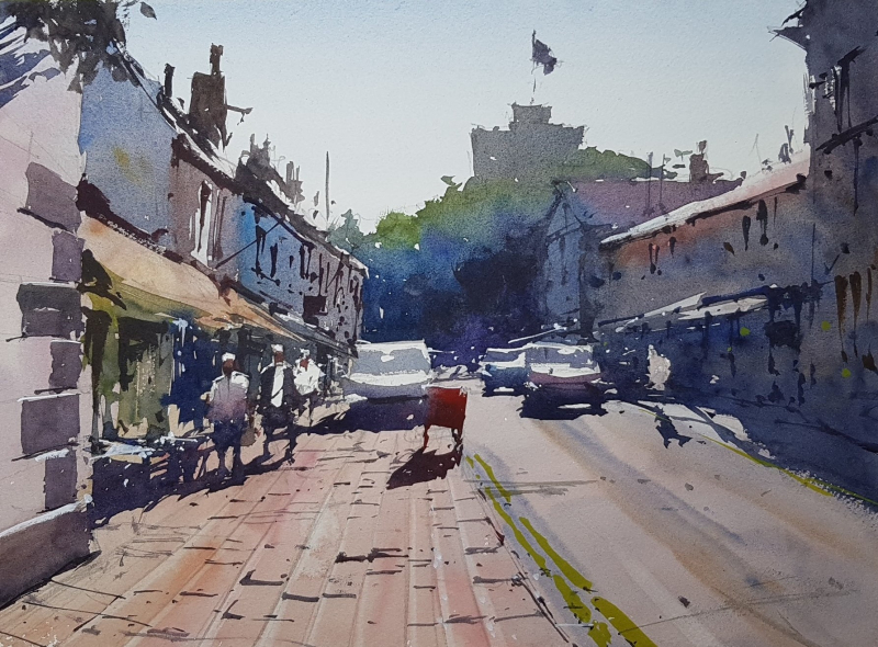 Clitheroe paitning by tim wilmot
