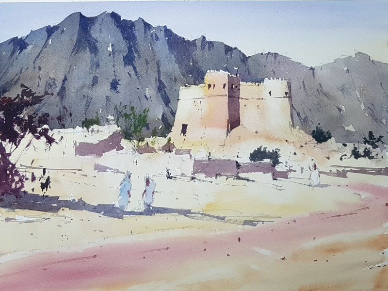 The Old Fort at Fujairah in UAE