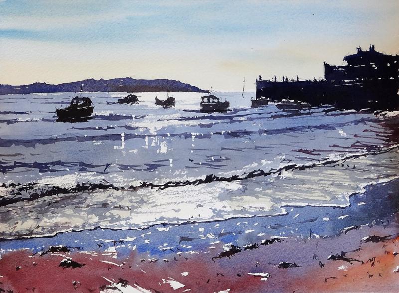Sunset Knightstone Island Weston Super Mare