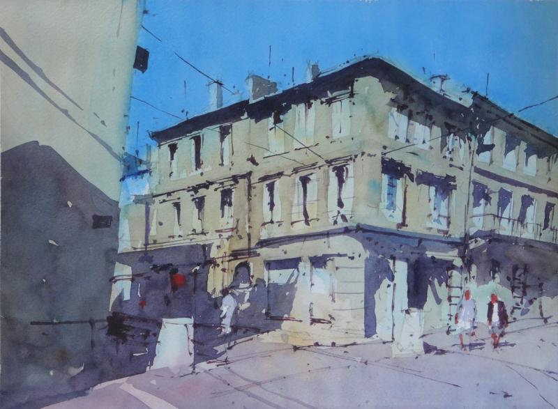 Rue Montesquieu Libourne France