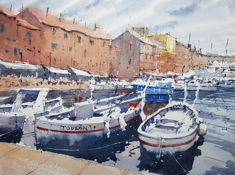 St Tropez workshop painting by Tim Wilmot